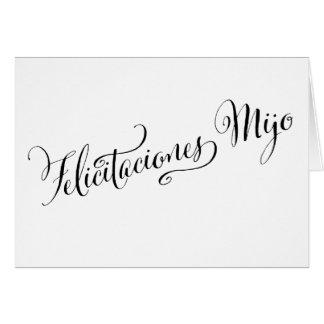 Spanischer Glückwunsch-Sohn | Felicitaciones Mijo Karte