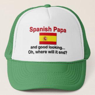 Spanischer Papa und schön Truckerkappe