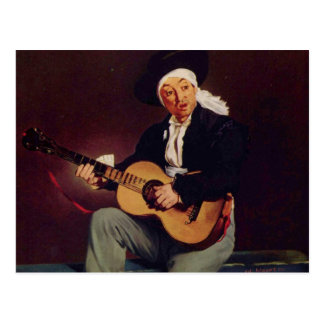Spanischer Sänger - Edouard Manet Postkarte