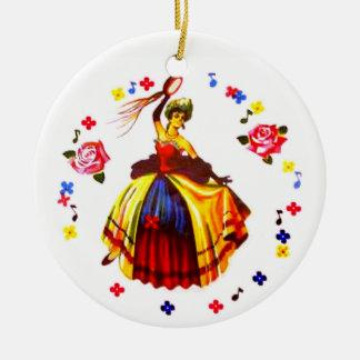Spanischer Tänzer Keramik Ornament