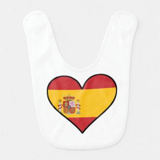 Spanisches Flaggen-Herz Lätzchen
