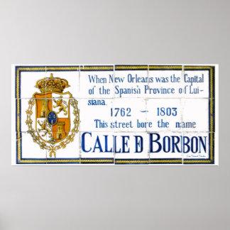 Spanisches Fliesen-Bourbon-St. Poster