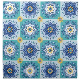 spanisches Fliesen Muster Sonne & Meer Serviette