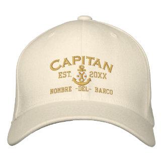 SPANISCHES Jahr und Name EL Capitan in der Bestickte Mützen