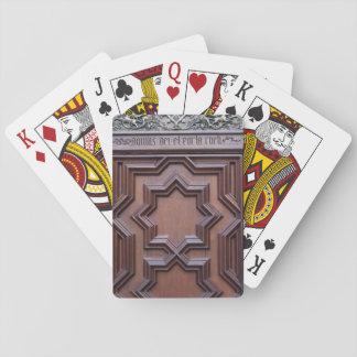 Spanisches Kirchen-Tür-Haus des Gott-Zugangs zum Spielkarten