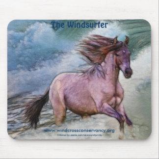 Spanisches Mustang-Pferd u. Strand-Brandung Mousepads