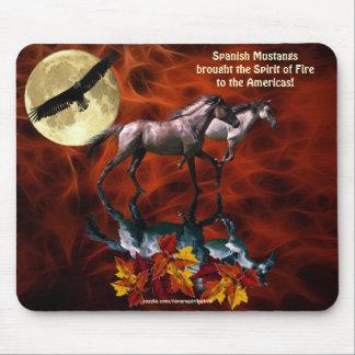 Spanisches Mustangstallions-PferdeFraktal Mousepad