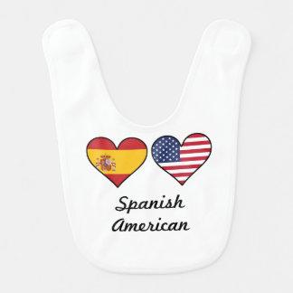 Spanish-amerikanische Flaggen-Herzen Lätzchen