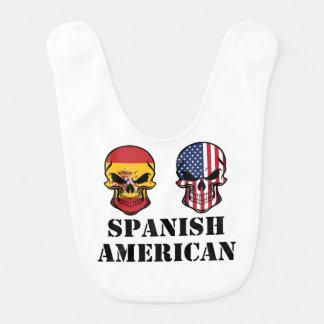 Spanish-amerikanische Flaggen-Schädel Lätzchen