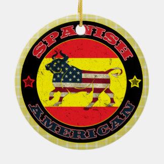 Spanish-amerikanische Stier-Dekoration Rundes Keramik Ornament