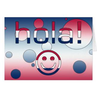 Spanish-amerikanisches Geschenk-hallo/Hola + Karte