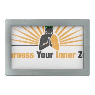 Spannen Sie Ihren inneren Zen vor Rechteckige Gürtelschnalle