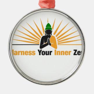 Spannen Sie Ihren inneren Zen vor Silbernes Ornament