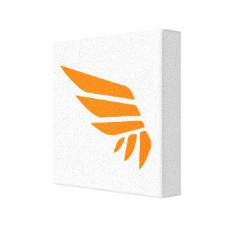 SPANNWEITE Ikonen-Leinwand-Druck (orange) Leinwanddruck
