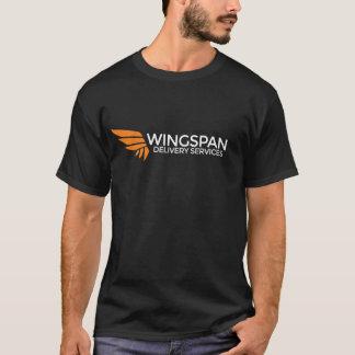 SPANNWEITE Zustelldienst-Logot-stück (dunkel) T-Shirt