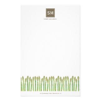 Spargel-Briefpapier Briefpapier