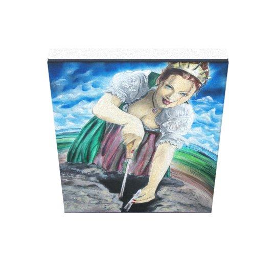 Spargelkönigin - asparagus queen leinwanddruck