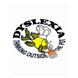Sparky Denken der Dyslexie-Kochs-Fische außerhalb Postkarte