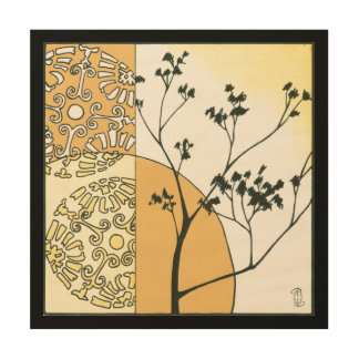 Spärliche Baum-Silhouette durch Megan Meagher Holzwanddeko