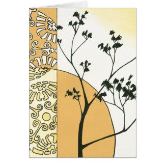 Spärliche Baum-Silhouette durch Megan Meagher Karte