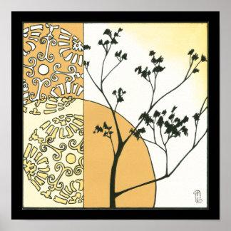 Spärliche Baum-Silhouette durch Megan Meagher Poster