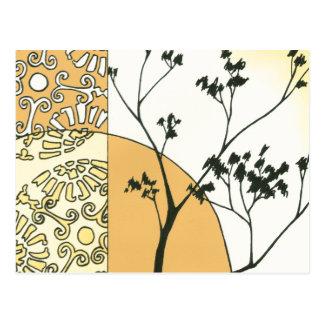 Spärliche Baum-Silhouette durch Megan Meagher Postkarte