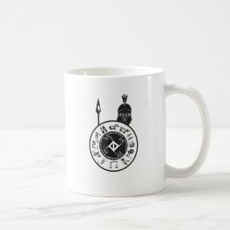 Spartanisch mit Schild Kaffeetasse