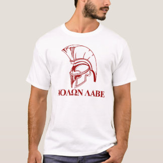 Spartanischer Grieche kommt ihm Molon Labe nehmen T-Shirt
