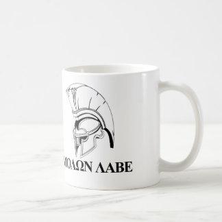 Spartanischer Grieche kommt ihm Molon Labe Tasse