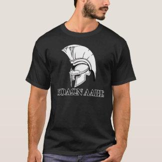 Spartanischer griechischer Sturzhelm kommen ihm T-Shirt