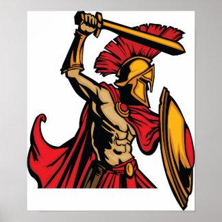 Spartanisches Kriegers-Plakat Poster