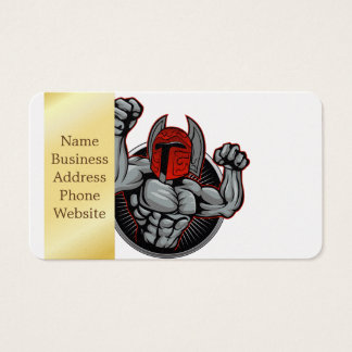Spartanisches Trojan Maskottchen Visitenkarte