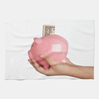 Sparungen in der piggy Bank Handtuch