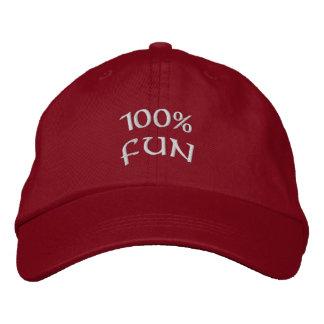 Spaß 100% bestickte baseballkappe