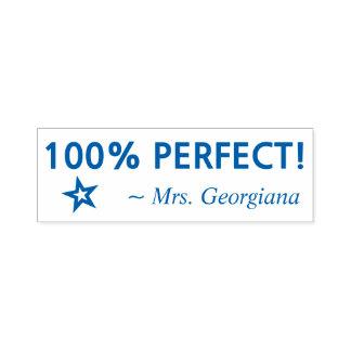 "Spaß ""100% PERFEKT!"" Erzieher-Gummi-Briefmarke Permastempel"