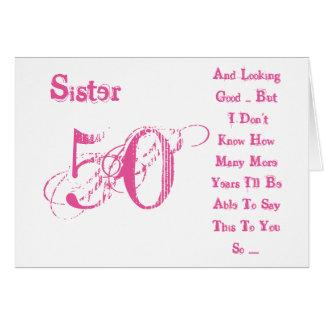 Zum 50 geburtstag der schwester