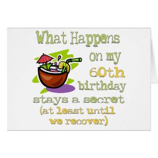 Spaß-60. Geburtstags-Geschenke Karte