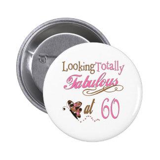 Spaß-60. Geburtstags-Geschenke Runder Button 5,1 Cm