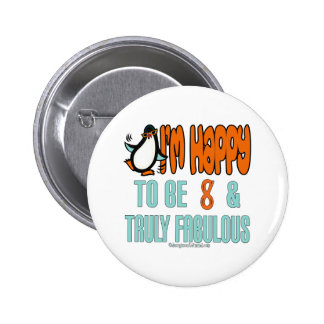 Spaß-8. Geburtstags-Geschenke Runder Button 5,7 Cm