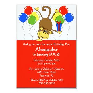 Spaß-Affe-Geburtstags-Einladung 12,7 X 17,8 Cm Einladungskarte