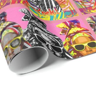 Spaß-Afrikaner-Mode Geschenkpapier