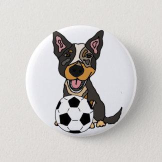 Spaß-australische Vieh-Hundefußball-Grafik Runder Button 5,1 Cm