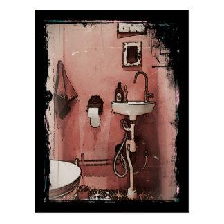 Spaß-Badezimmer Postkarte