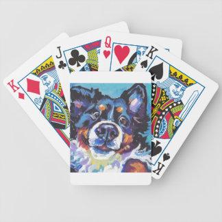 SPASS Bernese GebirgshundePopkunstmalerei Bicycle Spielkarten