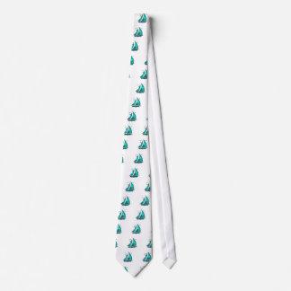 Spaß-Blau-Segelboot Krawatte
