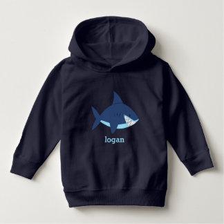 Spaß-blauer Haifisch Hoodie