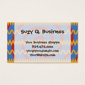 Spaß-blauer orange Wirbel und Zickzack Visitenkarte