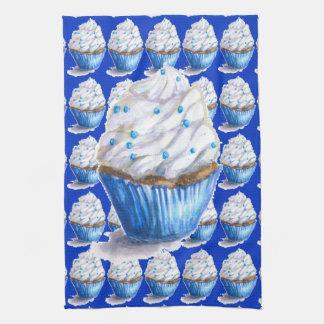 Spaß-blaues Samt-Kuchen-Tee-Tuch Küchentuch