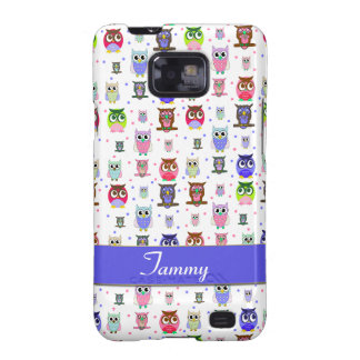 Spaß-bunte Eulen Samsung rufen Fall an Samsung Galaxy S2 Cover