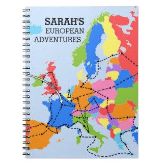 Spaß-bunte personalisierte europäische spiral notizblock